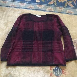 Sweaters - Grey & Gray Red & Black Sweater